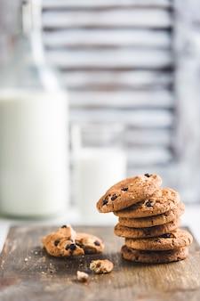 Biscuits à l'avoine au chocolat et au lait