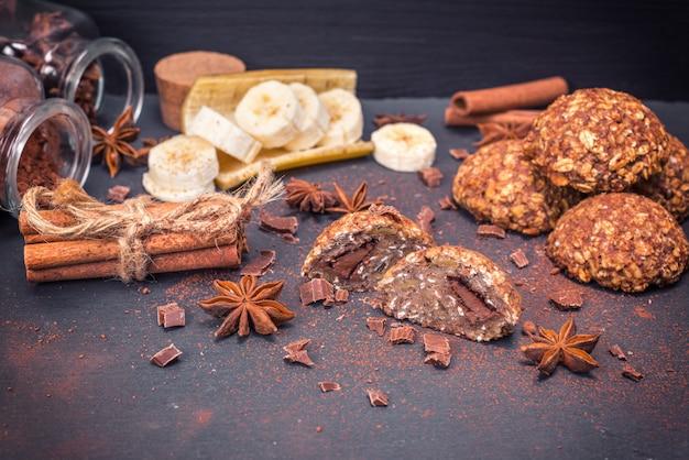 Biscuits d'avoine au chocolat