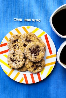 Biscuits à l'avoine au chocolat
