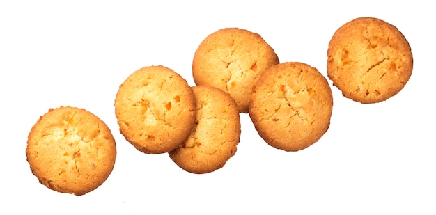 Biscuits à l'avoine isolés sur fond blanc