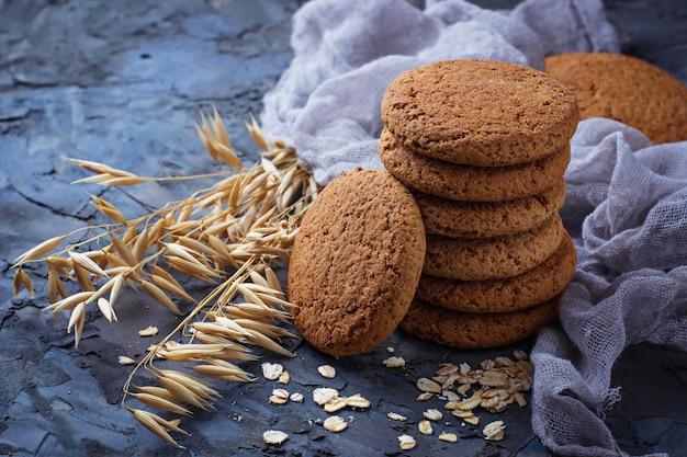 Biscuits à l'avoine sans gluten. mise au point sélective
