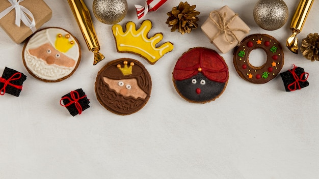 Biscuits et bonbons épiphanie espagnole
