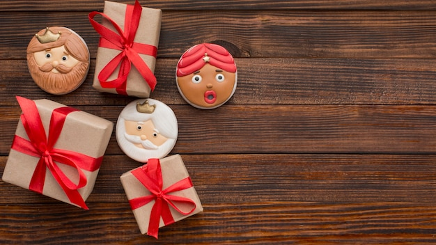 Biscuits et cadeaux de dessert epiphany