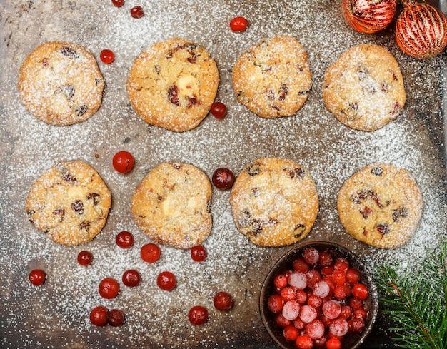 Biscuits à la canneberge (airelle rouge, airelle)