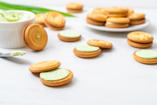 Biscuits à la crème de pandan