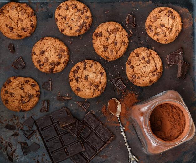 Biscuits croquants aux pépites de chocolat
