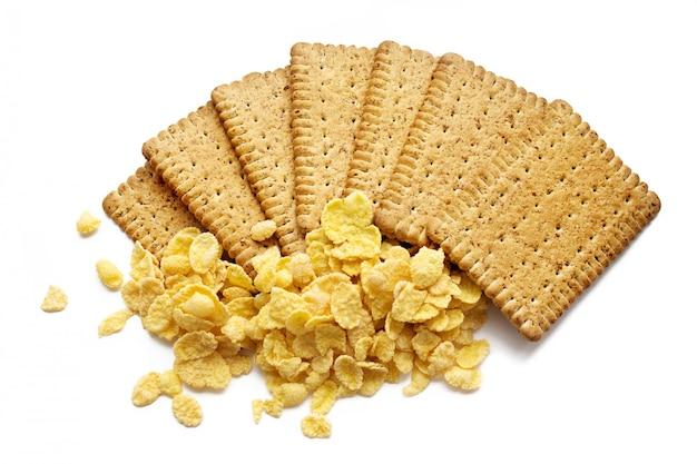 Biscuits croustillants savoureux isolés