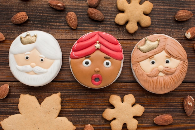 Biscuits dessert epiphany et amandes