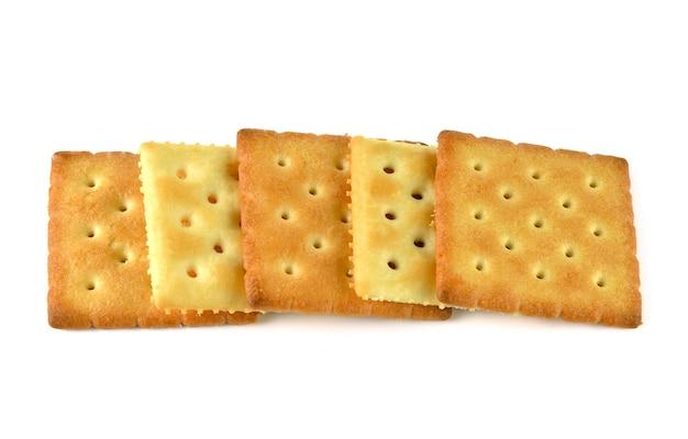 Biscuits doublés isolés sur blanc