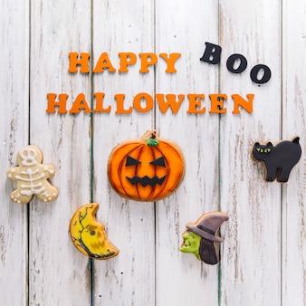 Biscuits drôles et bonsoir halloween