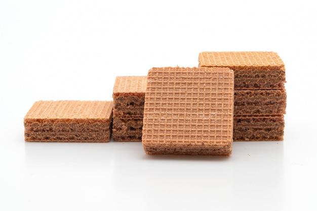 Biscuits gaufrés à la crème au chocolat