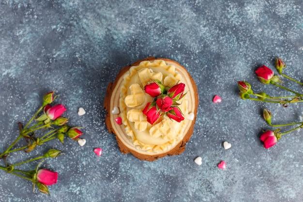 Biscuits gaufres avec une délicieuse crème maison.