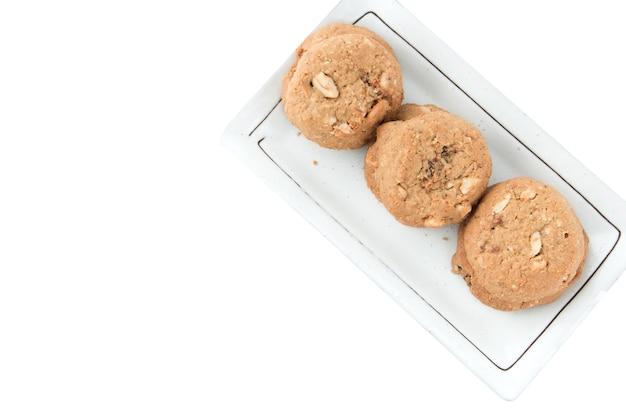 Biscuits à grains entiers en plaque blanche