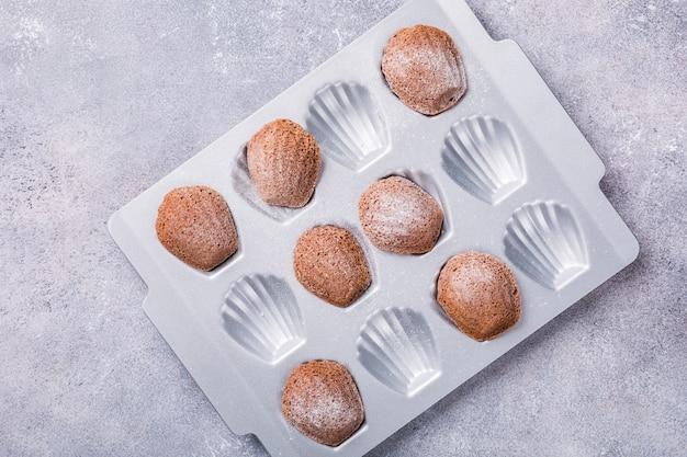 Biscuits à la madeleine au chocolat