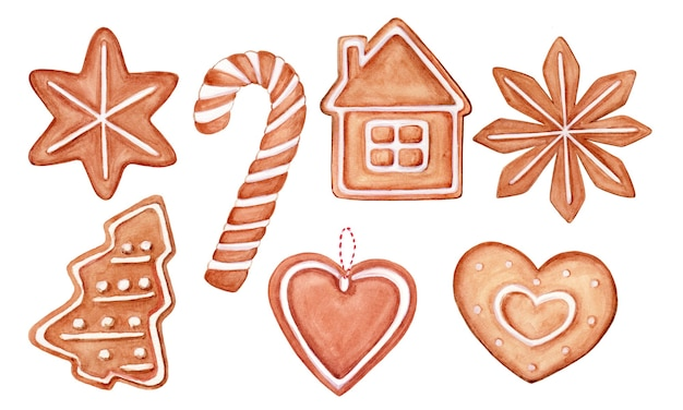 Biscuits de noël aquarelle