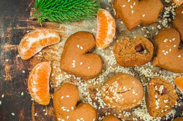 Biscuits de noël aux mandarines