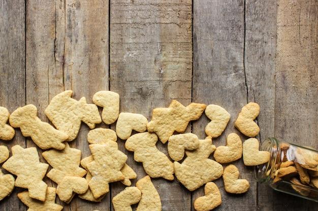 Biscuits de noël. mise au point sélective. nourriture et boissons.