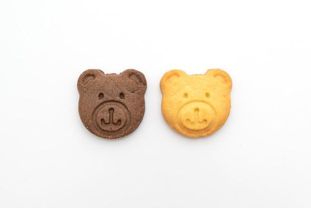Biscuits à l'ours avec saveur de chocolat et saveur de beurre