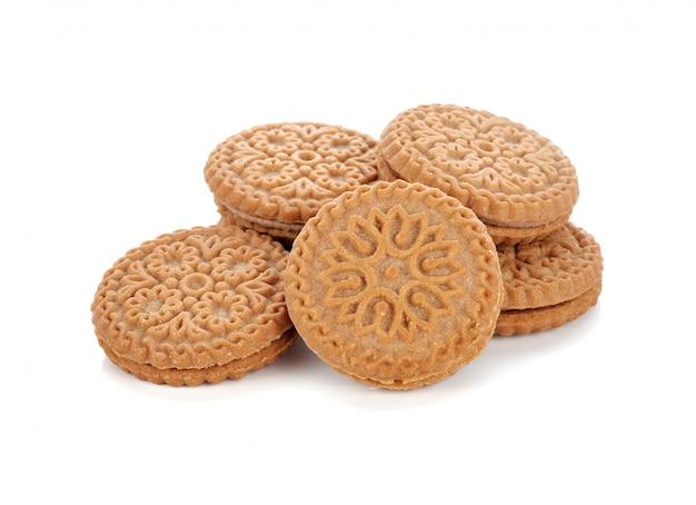 Biscuits de pâtisserie isolés sur fond blanc