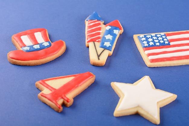 Biscuits patriotiques pour le 4 juillet