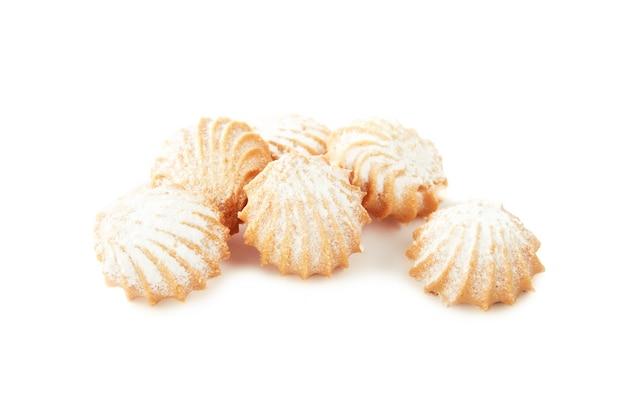 Biscuits sablés de différentes formes avec farce isolé