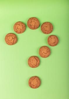 Biscuits sous forme de point d'interrogation