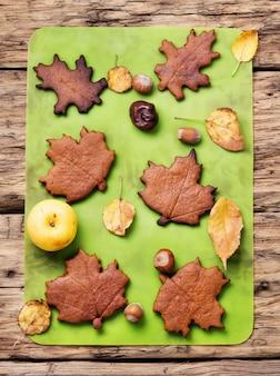 Biscuits symboliques d'automne