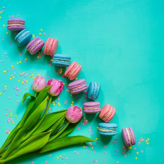 Biscuits tulipes et macaron