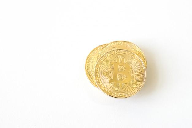 Bitcoin sur blanc