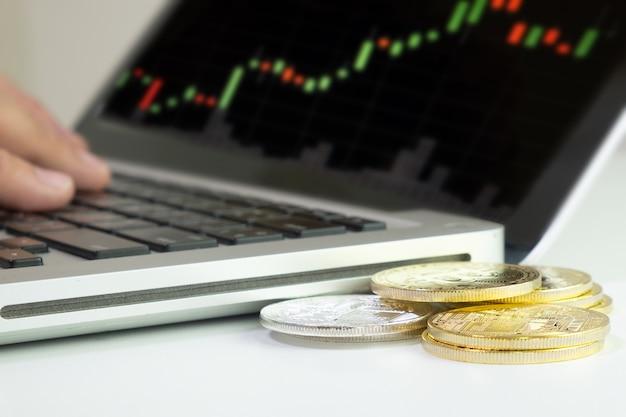 Bitcoin, blockchain de monnaie numérique, monnaie virtuelle