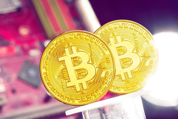 Bitcoin et une carte graphique d'ordinateur