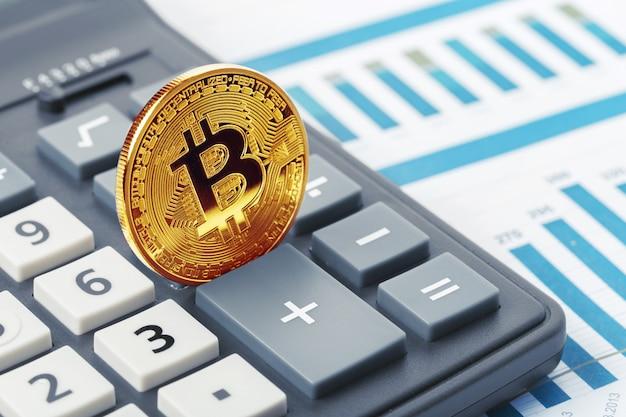 Bitcoin coin et calculatrice