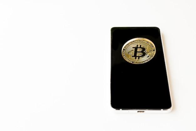 Bitcoin cryptocurrency numérique bit coin btc business internet concept.