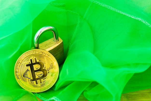 Bitcoin cryptocurrency numérique bit coin btc devise technologie business internet concept.