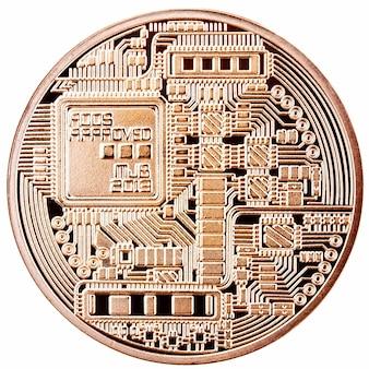 Bitcoin doré isolé