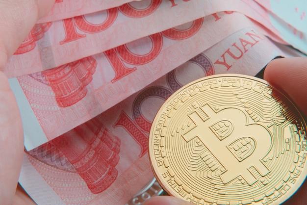 Bitcoin gold piece exchange avec billet d'argent