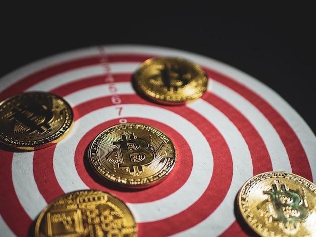 Bitcoin de monnaie numérique avec cible