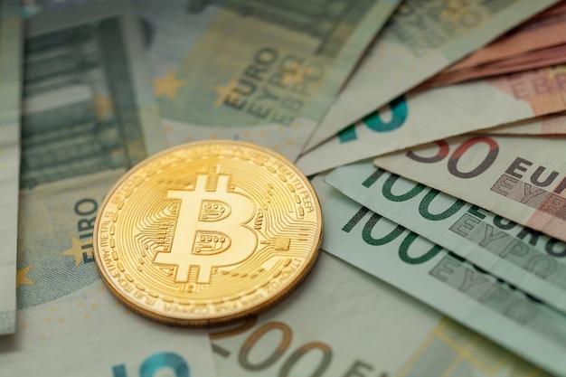 Bitcoin d'or repose sur l'euro