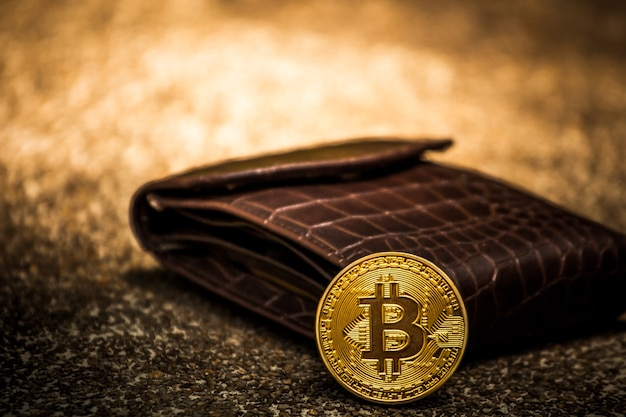 Bitcoin pièces d'or dans de nombreux portefeuilles.