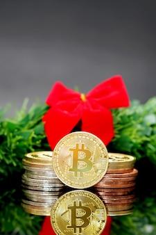 Bitcoins. bitcoins et nouveau concept d'argent virtuel. le bitcoin est une nouvelle monnaie.