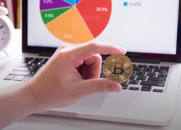Bitcoins et graphique.
