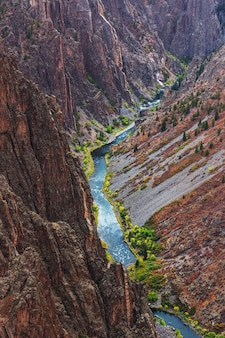 Black canyon of the gunnison, colorado, états-unis