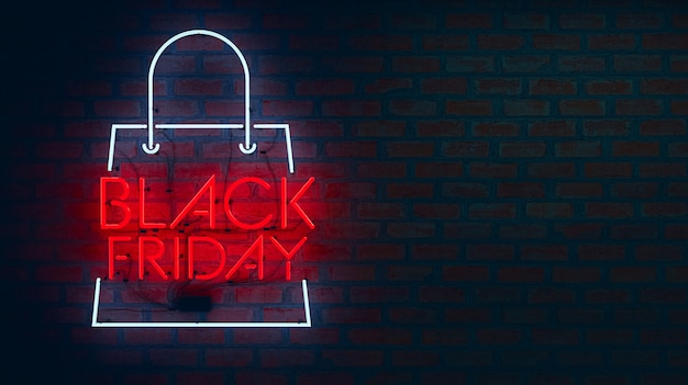 Black friday neon lights