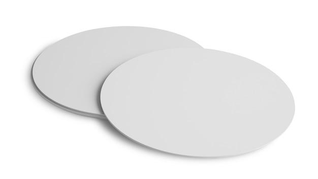 Blanc arrondi coaster