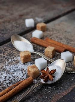 Blanc et cassonade à la cuillère.