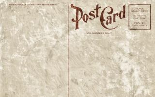 Blanc cru carte postale grunge édition