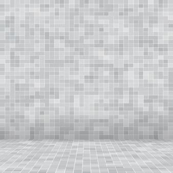 Blanc et gris le papier peint haute résolution du mur de tuiles