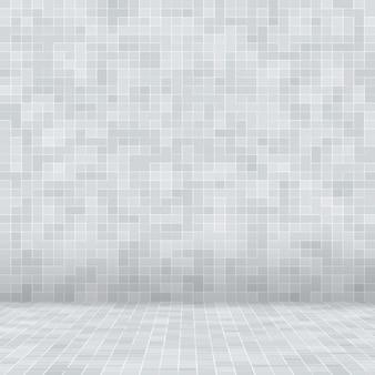 Blanc et gris le papier peint haute résolution de mur de carreaux ou de brique transparente et intérieur de texture