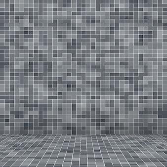 Blanc et gris le papier peint haute résolution de mur de tuile ou fond intérieur de brique sans couture et de texture.