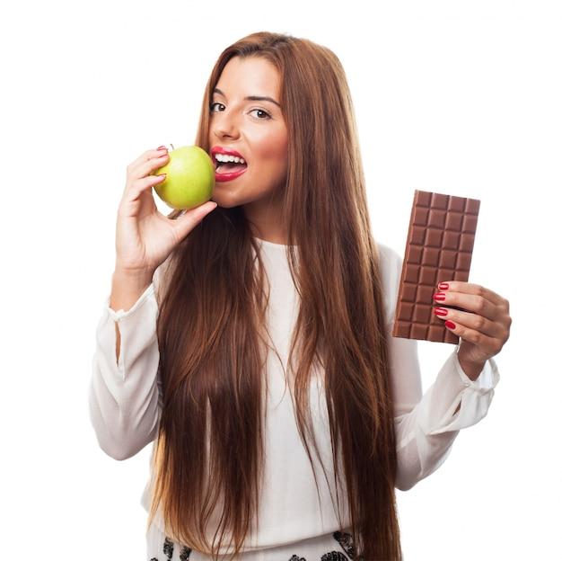 Blanc jeune pomme sucre délicieux